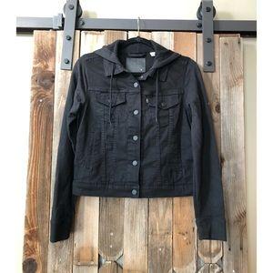 Black Levi Sweatshirt Jean Jacket Size M